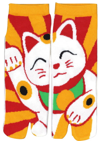 Samurai Market Original Tabi Socks: Lucky Cat