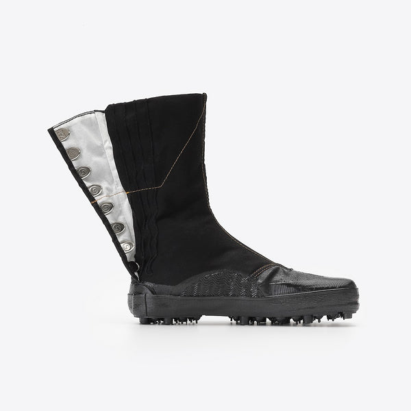 Marugo Spike Tabi Boots 8 Clips All Black with stitching