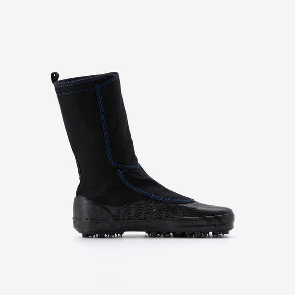 Marugo Spike Tabi Boots with Velcro All Black