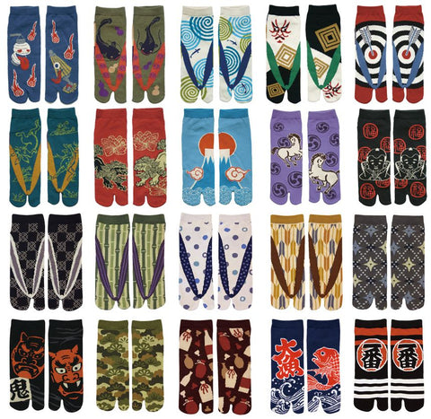 Japanese Tabi Socks: Men's Crew
