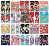 Japanese Tabi Socks: Ladies' Crew