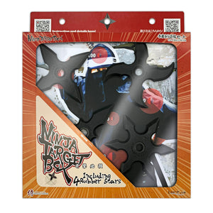 NEW DESIGN Ninja Target Box including 4 rubber shuriken and 8 target papers