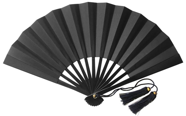 "Tessen (Iron Hand Fan): Big Black (11.8"")"