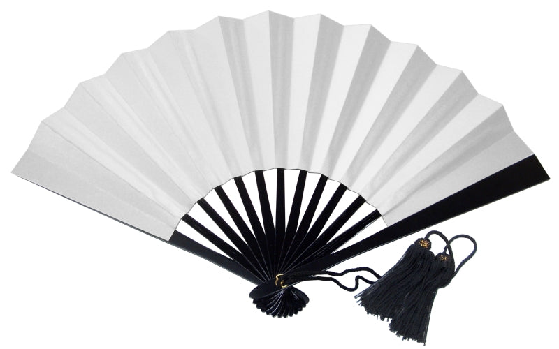 "Tessen (Iron Hand Fan): Big White (11.8"")"