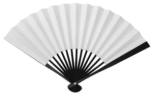 "Tessen (Iron Hand Fan): White - Shortened (7.7"")"