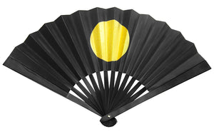 "Tessen (Iron Hand Fan): Japanese Rising Sun - Black (9.5"")"