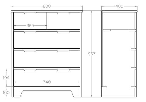 Tall Storage Drawers Dimensions
