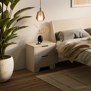The Plyhome 2 Drawer Bedside