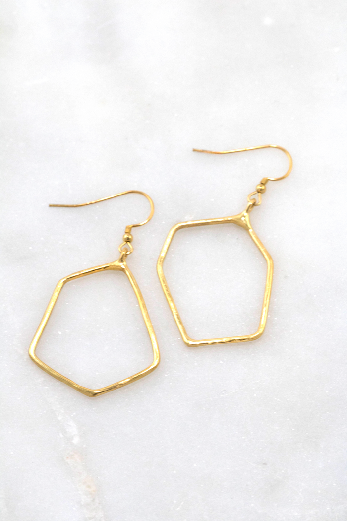 Asymmetric Geo Earrings