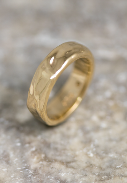 Signature Molten Gold Wedding Bands