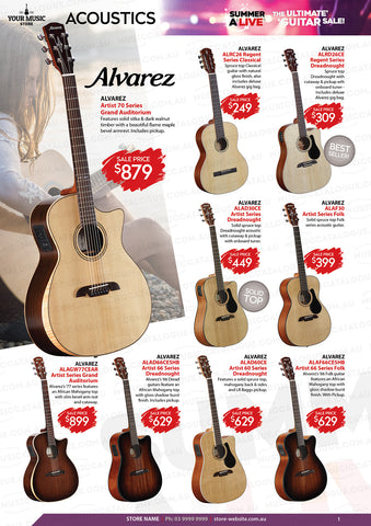 Alvarez Acoustic Guitars