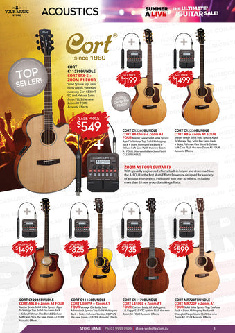 Cort Acoustic Zoom BUNDLE