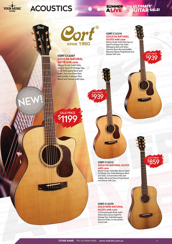 Cort Gold Series Acoustic Guitars