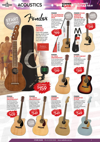 Fender Acoustic Guitars