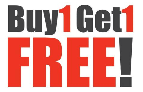 Image result for buy 1 get 1 free