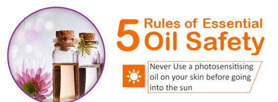 Essential Oil Safety- Rule 3: Never Apply Photosensitising Oils Before Going Out into the Sun