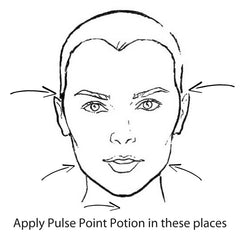 apply Pulse Point Potions around hte face on these positions