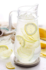 drink lemon water to help get your fluid intake up around 2l per day