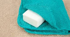 use a wash cloth with our salt bars to get more lather