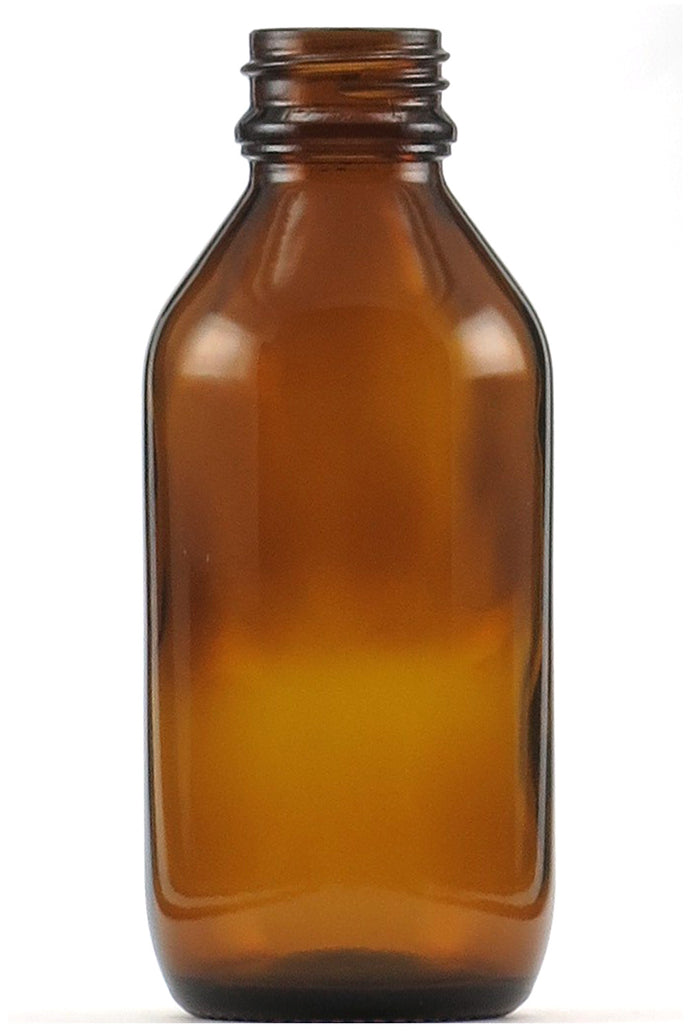 Glass Bottle Amber with Black Cap 100ml