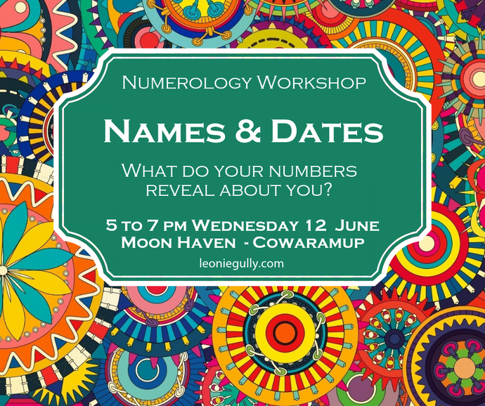 Intro to Numerology Workshop - Names & Dates 12 June 2019