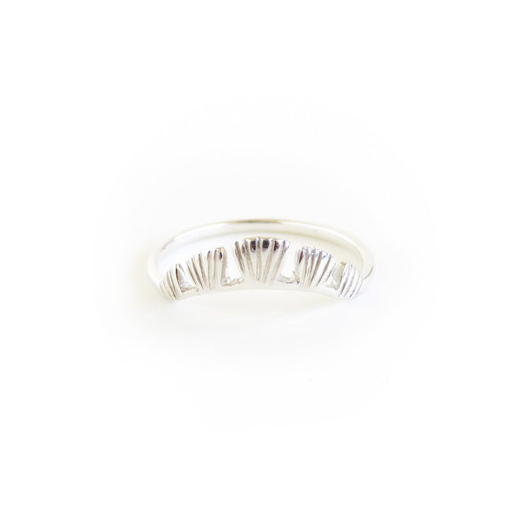The Coral Ring in Silver