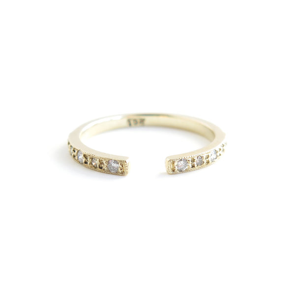 Diamond Gap Ring in Yellow Gold