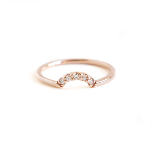 Diamond Arch Band in Rose Gold
