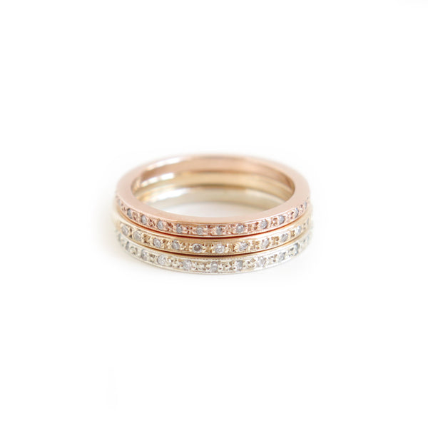 Half Eternity Band Stack
