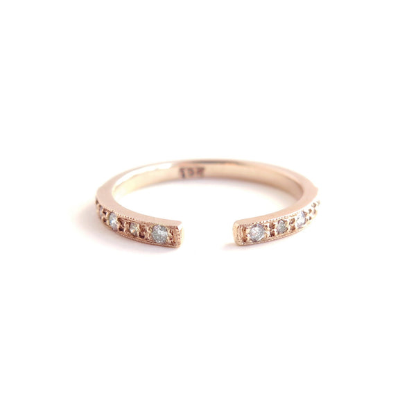 Diamond Gap Ring in Rose Gold