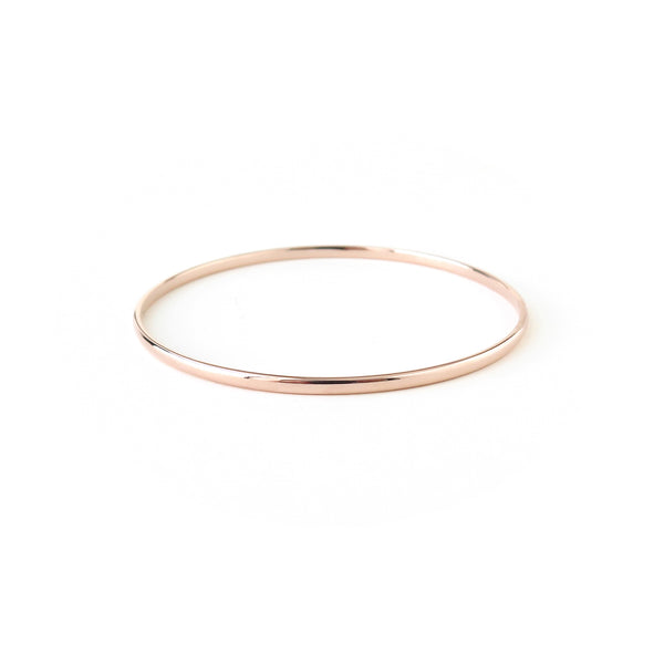 Half Round Bangle in Rose Gold