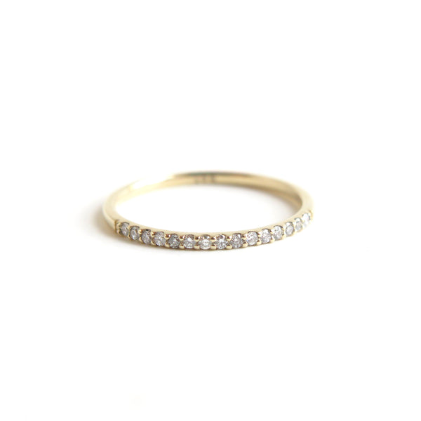 Dainty Shared Claw Half Eternity Band