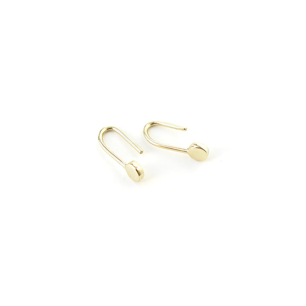 Dot Earrings in Yellow Gold