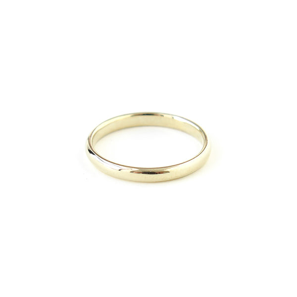 Half Round Band in Yellow Gold