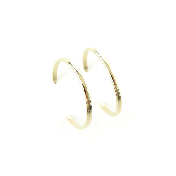 Large Hoop Earrings in Yellow Gold