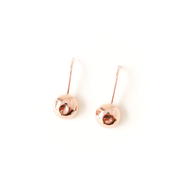 The Atom Earrings in Rose Gold