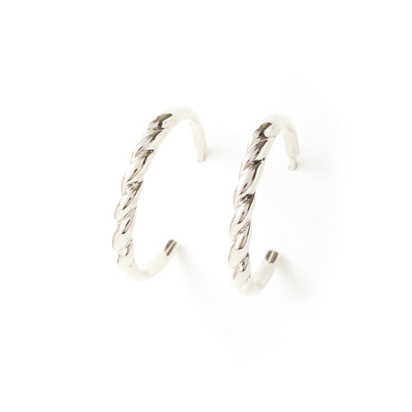 The Contour Earrings in Silver