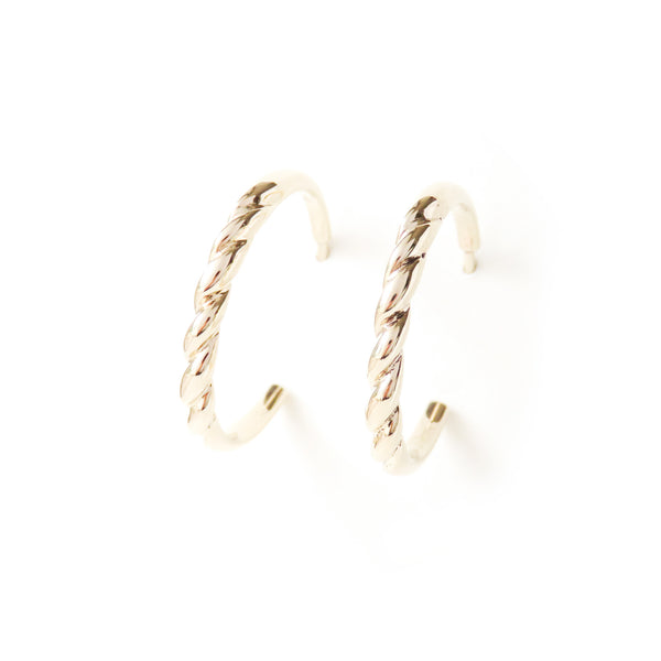 The Contour Earrings in Yellow Gold