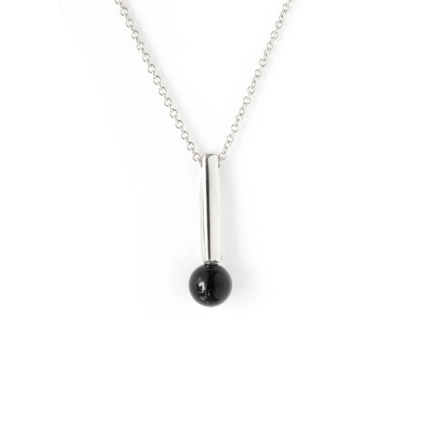 The Droplet Pendant in Silver with Agate