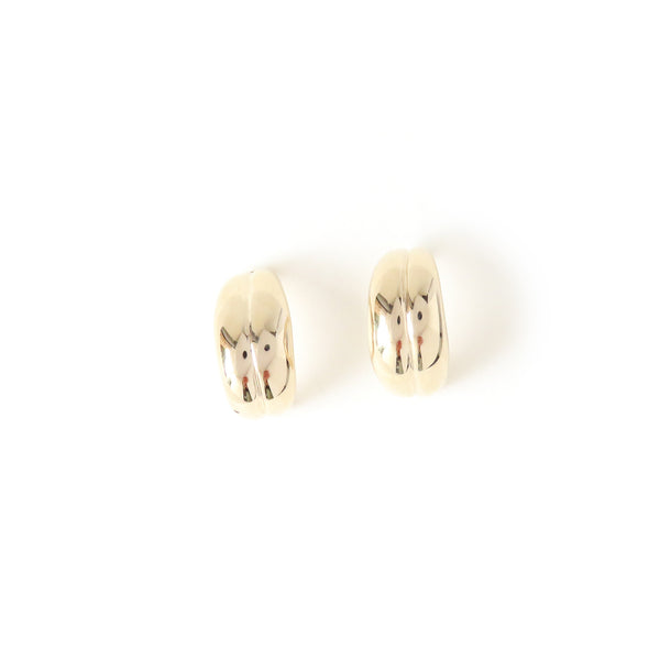 The Fold Earrings in Yellow Gold