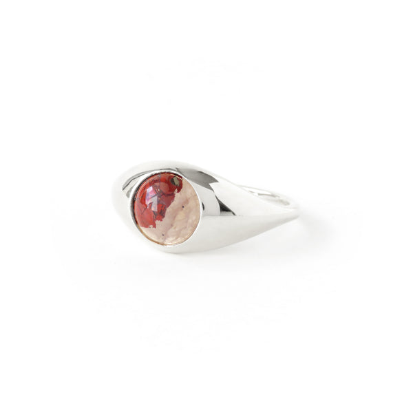 The Iris Ring in Silver with Brecciated Jasper
