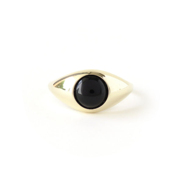 The Iris Ring in Yellow Gold with Agate