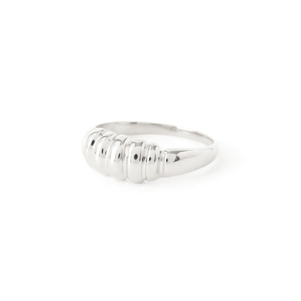 The Ripple Ring in Silver