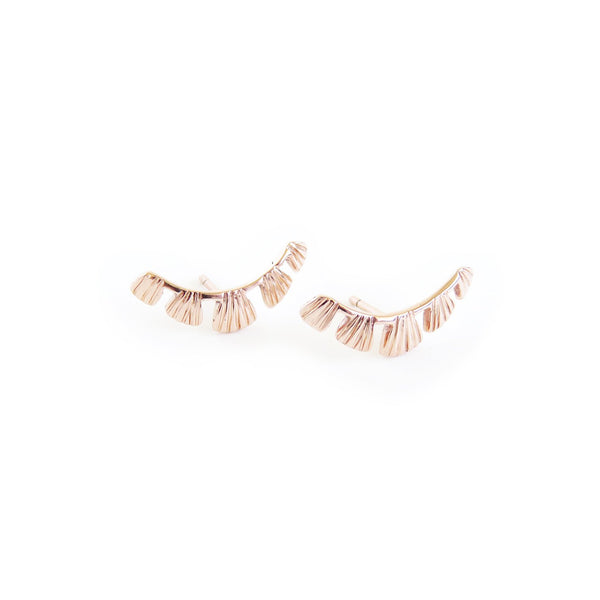 Coral Earrings in Rose Gold