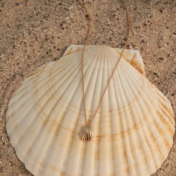The Shell Pendant in Yellow Gold