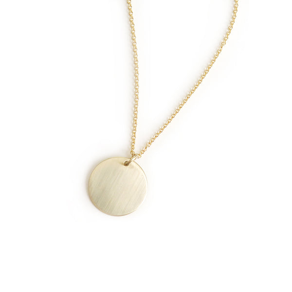 Disc Pendant in Yellow Gold