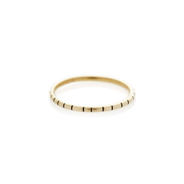 Yellow Gold Striped Ring