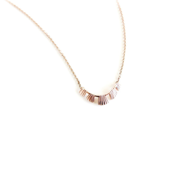 The Coral Pendant in Rose Gold