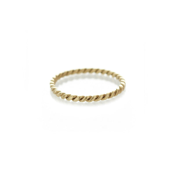 Yellow Gold Rope Ring