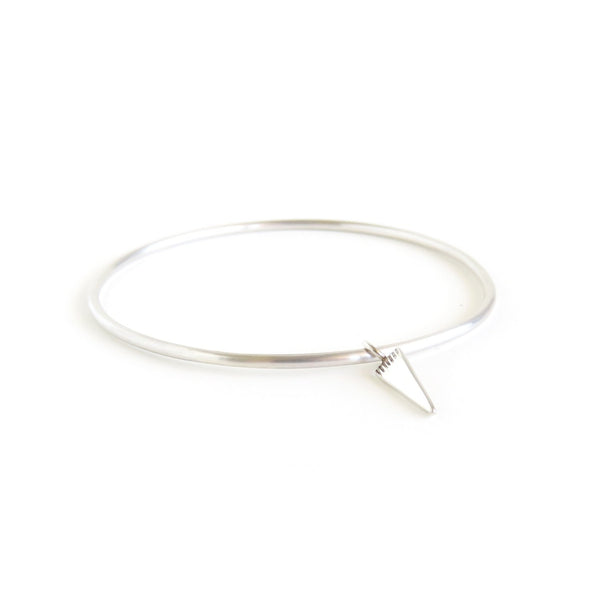 The Klipvis Bangle in Silver